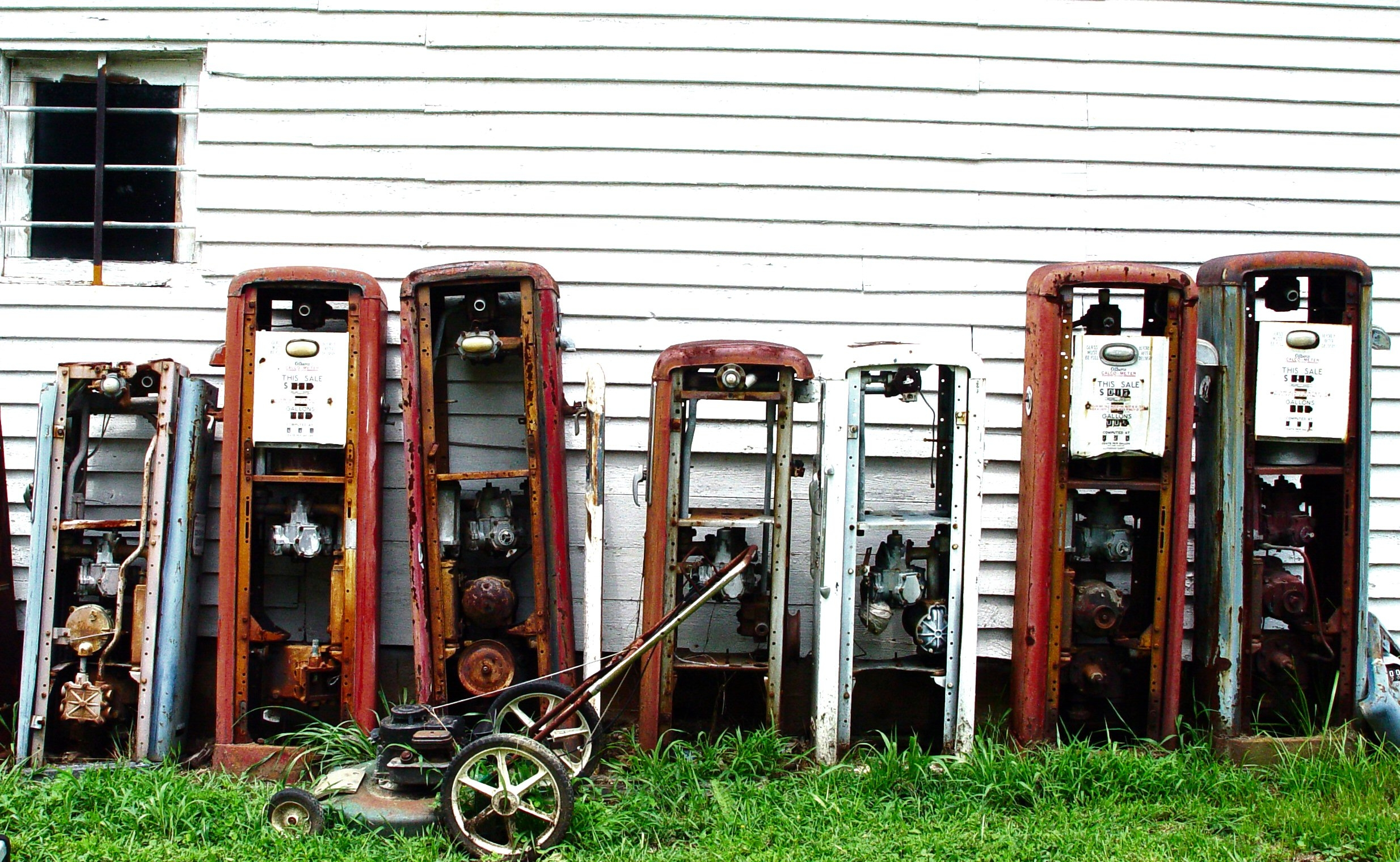 Old gas pumps