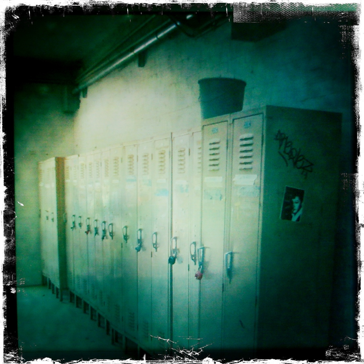 a row of lockers