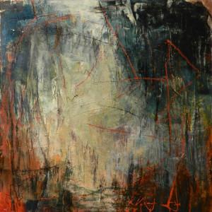 Tomoka Trail, 24x24, acrylic, mixed media on canvas